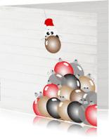 Kerstkaarten - Mo Cards ballen kerstkaart