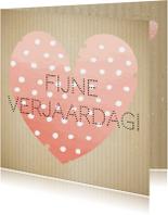 Verjaardagskaarten - Mo Cards felicitatie hart