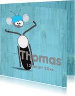 Geboortekaartjes - Mo Cards geboortekaartje motor