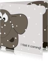 Kerstkaarten - Mo Cards kerstkaart sneeuw