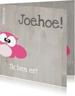 Geboortekaartjes - Mo Cards uiltjes gezin babykaart