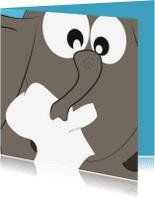 Beterschapskaarten - Mo Cards verkouden olifant met zakdoek