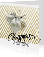 Zakelijke kerstkaarten - Modern Klassieke kerstkaart - SG