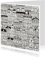 Verhuiskaarten - Modern verhuis nieuw huis kaartje