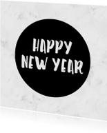 Nieuwjaarskaarten - Moderne kaart met marmer - SU