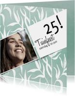 Uitnodigingen - Moderne uitnodiging voor een tuinfeest in groen-wit
