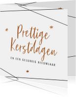 Zakelijke kerstkaarten - Moderne zakelijke kerstkaart met bronskleur teksten