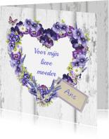 Moederdag kaarten - moederdag bloemenhart