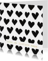 Moederdag kaarten - Moederdag hartjes minimalistisch