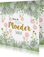 Moederdag kaarten - Moederdag hippe kaart bloemen en botanica