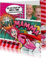 Moederdag kaarten - Moederdag liefste supermamma