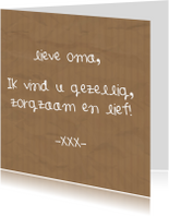 Moederdag kaarten - Moederdag - Lieve oma..