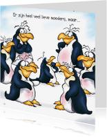 Moederdag kaarten - Moederdag penguins 3 groep - RN