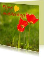 Moederdag kaarten - Moederdag rood
