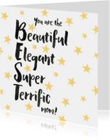 Moederdagkaart Best mom