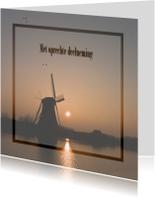 Condoleancekaarten - Molen bij zonsopkomst