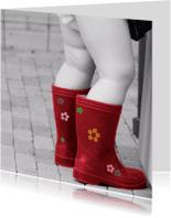 Felicitatiekaarten - Mollige beentjes met bloemenlaarsjes aan