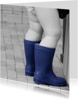 Felicitatiekaarten - Mollige blote beentjes en laarsjes aan