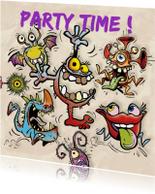 Uitnodigingen - Monsters Party