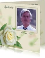Rouwkaarten - Mooie bedankkaart roos met eigen foto