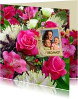 Bloemenkaarten - Mooie bloemenkaart diverse bloemen