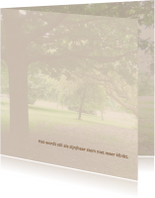 Mooie rustige bedankkaart met de stilte van de natuur