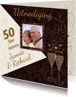 Mooie uitnodiging voor een jubileum 50 jaar samen