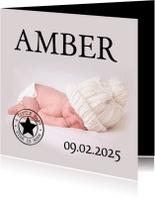 Geboortekaartjes - Naam en baby-isf