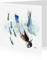 Zomaar kaarten - Nadia onder water