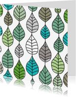 Condoleancekaarten - Natuur patroon rouwkaart
