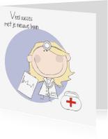 Felicitatiekaarten - Nieuwe baan arts- vrouw