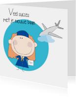 Felicitatiekaarten - Nieuwe baan stewardess