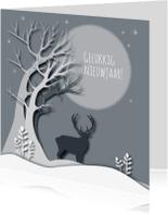 Nieuwjaarskaarten - Nieuwjaar - New Woods Gray - MW