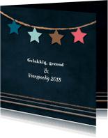 Kerstkaarten - Nieuwjaars kaart zakelijk sterren 78