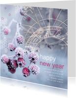 Nieuwjaarskaarten - nieuwjaars sneeuwbessen