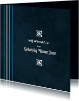 Nieuwjaarskaarten - Nieuwjaarskaart blauw 85
