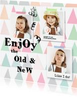 Nieuwjaarskaarten - Nieuwjaarskaart Chevron collage