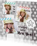 Nieuwjaarskaarten - Nieuwjaarskaart foto collage sterren