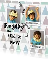 Nieuwjaarskaarten - Nieuwjaarskaart foto's collage