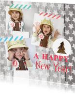 Nieuwjaarskaarten - nieuwjaarskaart foto sterren