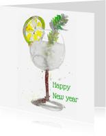 Nieuwjaarskaarten - Nieuwjaarskaart Gin Tonic