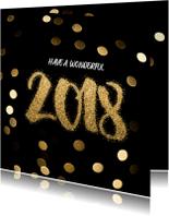 Nieuwjaarskaarten - Nieuwjaarskaart glamour nieuwjaarskaart - LO