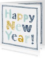 Nieuwjaarskaarten - Nieuwjaarskaart handgeschreven letters