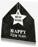 Nieuwjaarskaarten - Nieuwjaarskaart huis ster