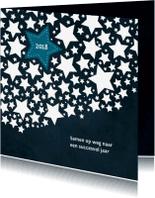 Nieuwjaarskaarten - Nieuwjaarskaart samenwerking sterren