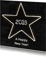 Nieuwjaarskaarten - Nieuwjaarskaart Ster 2018