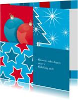Nieuwjaarskaarten - Nieuwjaarskaart ster boom bal 13