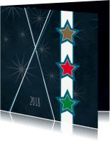 Nieuwjaarskaarten - Nieuwjaarskaart sterren 82