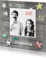Nieuwjaarskaarten - nieuwjaarskaart sterren foto
