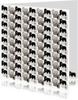 Dierenkaarten - Olifanten in zwart, wit en grijs